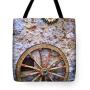 Wheel And Sun In Taromina Sicily Tote Bag by David Smith