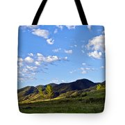 When Clouds Meet Mountains Tote Bag by Angelina Vick