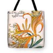 When Lilies Turned To Tiger Blaze Tote Bag by Walter Crane
