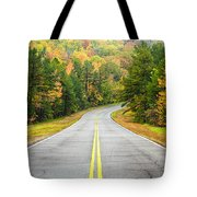 Where this Road will Take You - Talimena Scenic Highway - Oklahoma - Arkansas Tote Bag by Silvio Ligutti
