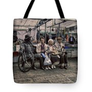 Which One Is The Statue Tote Bag by Doc Braham