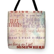 Which Way Tote Bag by Heather Applegate