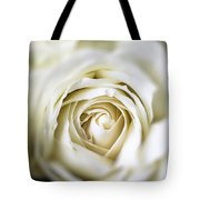 Whie Rose Softly Tote Bag by Garry Gay