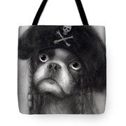 Whimsical Funny French Bulldog Pirate  Tote Bag by Svetlana Novikova