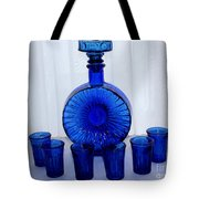 Whiskey Decanter And Shot Glasses Tote Bag by Barbara Griffin