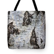 White Birch Abstract  Tote Bag by Heidi Smith