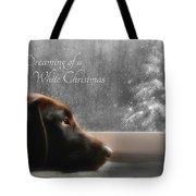 White Christmas Tote Bag by Lori Deiter