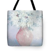 White Chrysanthemums Tote Bag by Jan Matson