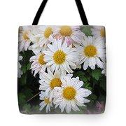 White Daisies Tote Bag by Kay Novy