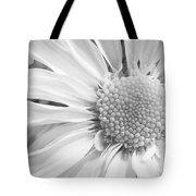 White Daisy Tote Bag by Adam Romanowicz