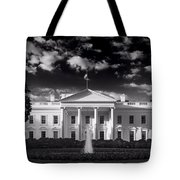 White House Sunrise B W Tote Bag by Steve Gadomski