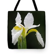 White Iris Tote Bag by Juergen Roth