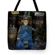 White Lightnin Road And Jeb Tote Bag by DigiArt Diaries by Vicky B Fuller