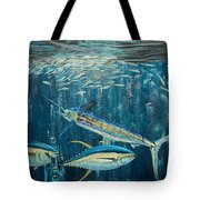 White Marlin original oil painting 24x36in on canvas Tote Bag by Manuel Lopez