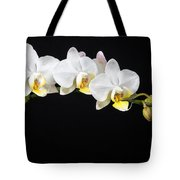 White Orchids Tote Bag by Adam Romanowicz