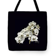 White Orchids Tote Bag by Tom Prendergast