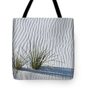 White Sands Grasses Tote Bag by Steve Gadomski