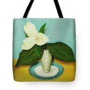 White Trillium Tote Bag by Anastasiya Malakhova