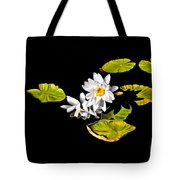White Water Lilies Tote Bag by Frances Hattier