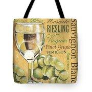 White Wine Text Tote Bag by Debbie DeWitt