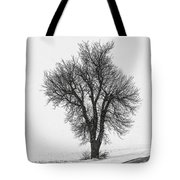 Whiteout Tote Bag by Chris Austin