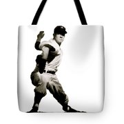 Whitey Ford  Crafty  Tote Bag by Iconic Images Art Gallery David Pucciarelli