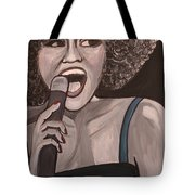 Whitney Houston Tote Bag by Kate Fortin
