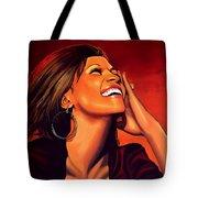 Whitney Houston Tote Bag by Paul Meijering