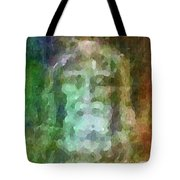 Who Do Men Say That I Am - The Shroud Tote Bag by Glenn McCarthy Art and Photography
