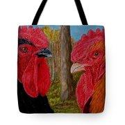 Who You Calling Chicken Tote Bag by Karen Ilari