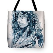 Whole Lotta Love Jimmy Page Tote Bag by Paul Lovering