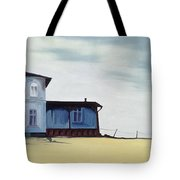 Wide Blue Tote Bag by Ana Bianchi