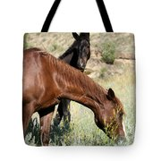 Wild Horse Mama And Her Baby Tote Bag by Sabrina L Ryan