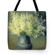 Wild Lilacs And Forget Me Nots Tote Bag by Isaak Ilyich Levitan