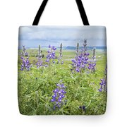 Wild Lupine Tote Bag by Theresa Tahara