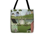 Wild Rose Crossing Tote Bag by Catherine Holman