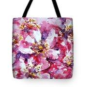 Wild Rose Tote Bag by Zaira Dzhaubaeva