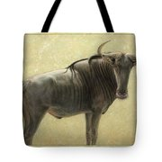 Wildebeest Tote Bag by James W Johnson