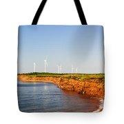 Wind Turbines On Atlantic Coast Tote Bag by Elena Elisseeva