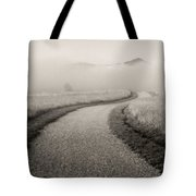 Winding Path And Mist Tote Bag by Marilyn Hunt