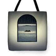 Window View Of Desert Island Puerto Rico Prints Lomography Tote Bag by Shawn O'Brien