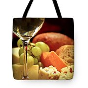 Wine And Cheese Tote Bag by Elena Elisseeva