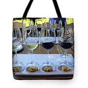 Wine And Cheese Tasting Tote Bag by Kurt Van Wagner