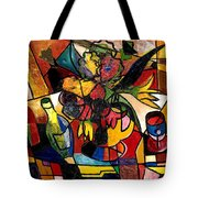 Wine And Flowers For Two Tote Bag by Everett Spruill