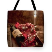 Wine by Candle Light I Tote Bag by Tom Mc Nemar