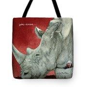Wine-oceros... Tote Bag by Will Bullas
