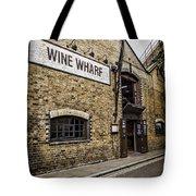 Wine Wharf Tote Bag by Heather Applegate