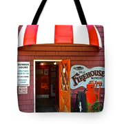 Winery Entrance Tote Bag by Frozen in Time Fine Art Photography