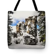 Winter at the Stony Summit Tote Bag by Aged Pixel