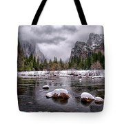 Winter At Valley View Tote Bag by Cat Connor